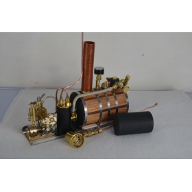 Microcosm Q2 V-twin cylinder steam engine+ Boiler + Tank