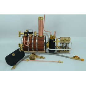 Twin Cylinder Marine Steam Engine With Horizontal boiler+ Tank Q