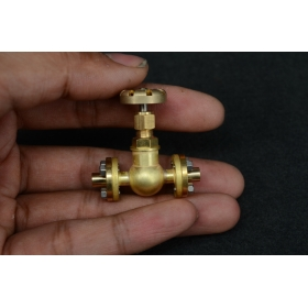 3.5mm pipe 1/4 x 40 inline Globe Valve Flange type for live stea