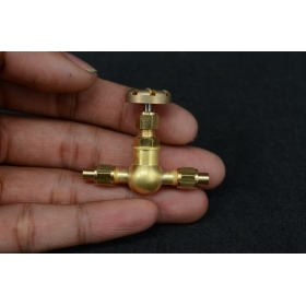 3.5mm pipe 1/4 x 40 inline Globe Valve for live steam GV-A2