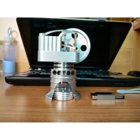 New Hot Air Stirling Engine Model ToyVertical Cylinder Motor