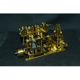 New Two-cylinder steam with Flyball Governor and pump M29D